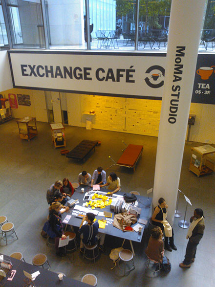 Alternative Economies booklet drop at The Exchange Cafe @ MoMa June14th, 2013